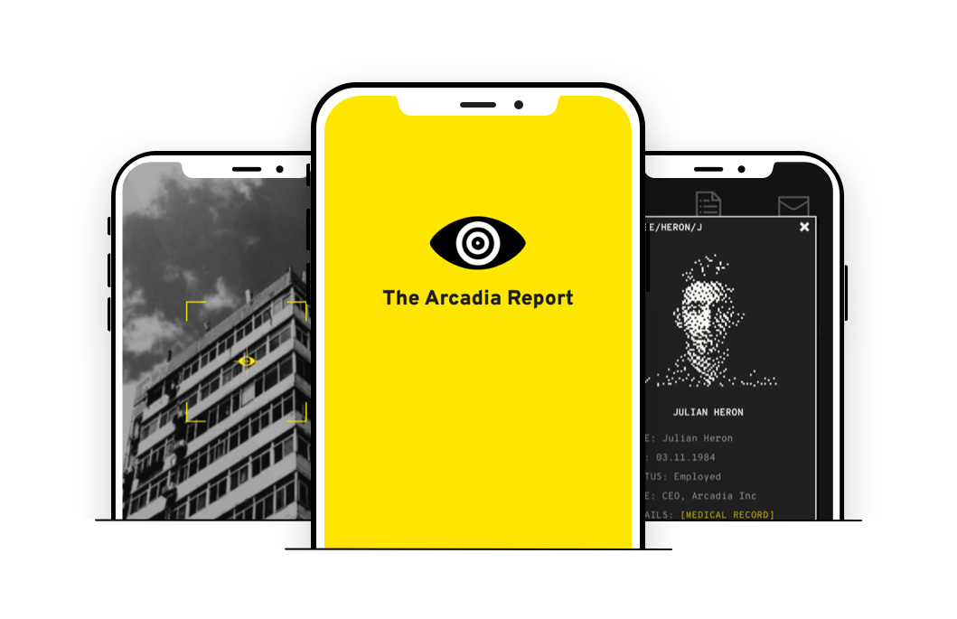 preview of screens from The Arcadia Report